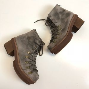 Jeffrey Campbell | aspen cow suede short boots